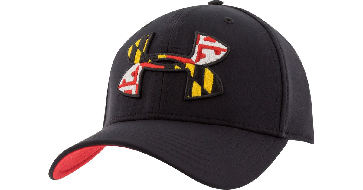 906b67c94f8 ... 50% off lyst under armour maryland flag big logo low crown hat in black  for