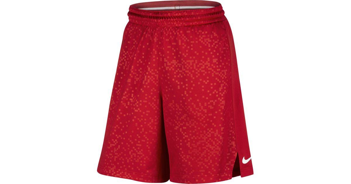 c564084e741 ... wholesale lyst nike lebron elite basketball shorts in red for men 4da1c  affa6