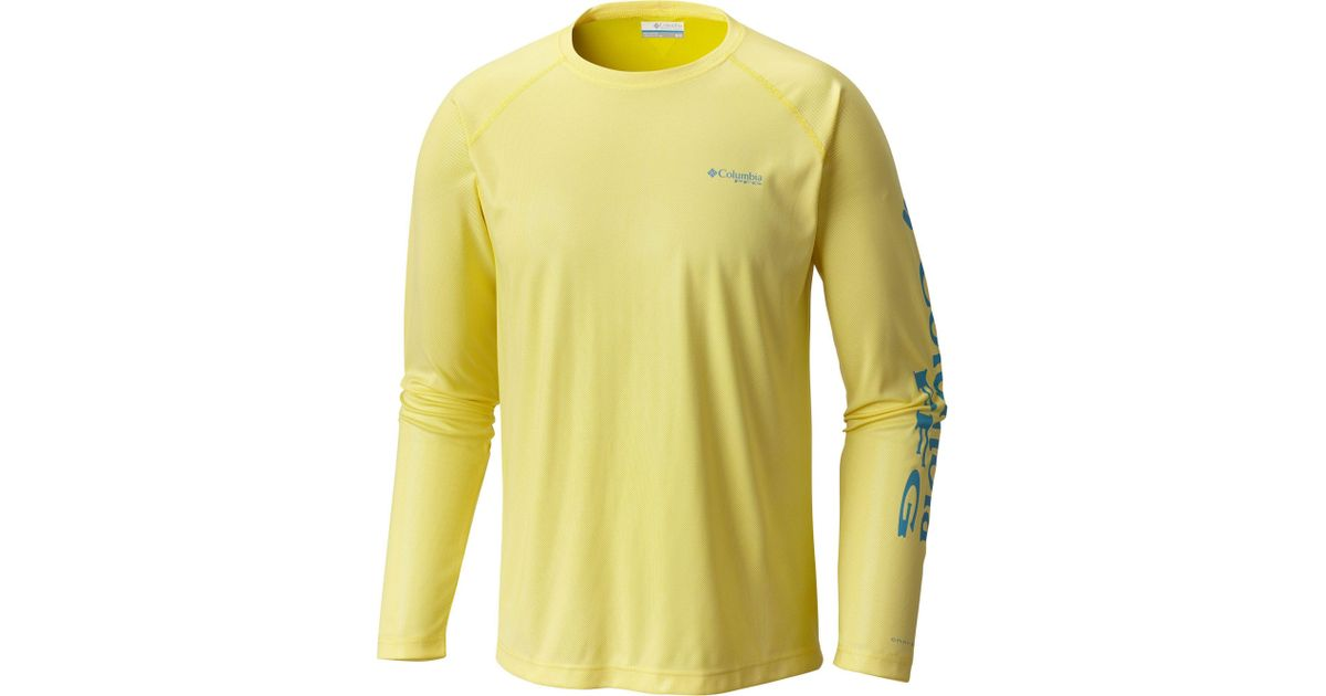 74a636ce8e7 Lyst - Columbia Pfg Solar Shade Long Sleeve Shirt in Yellow for Men