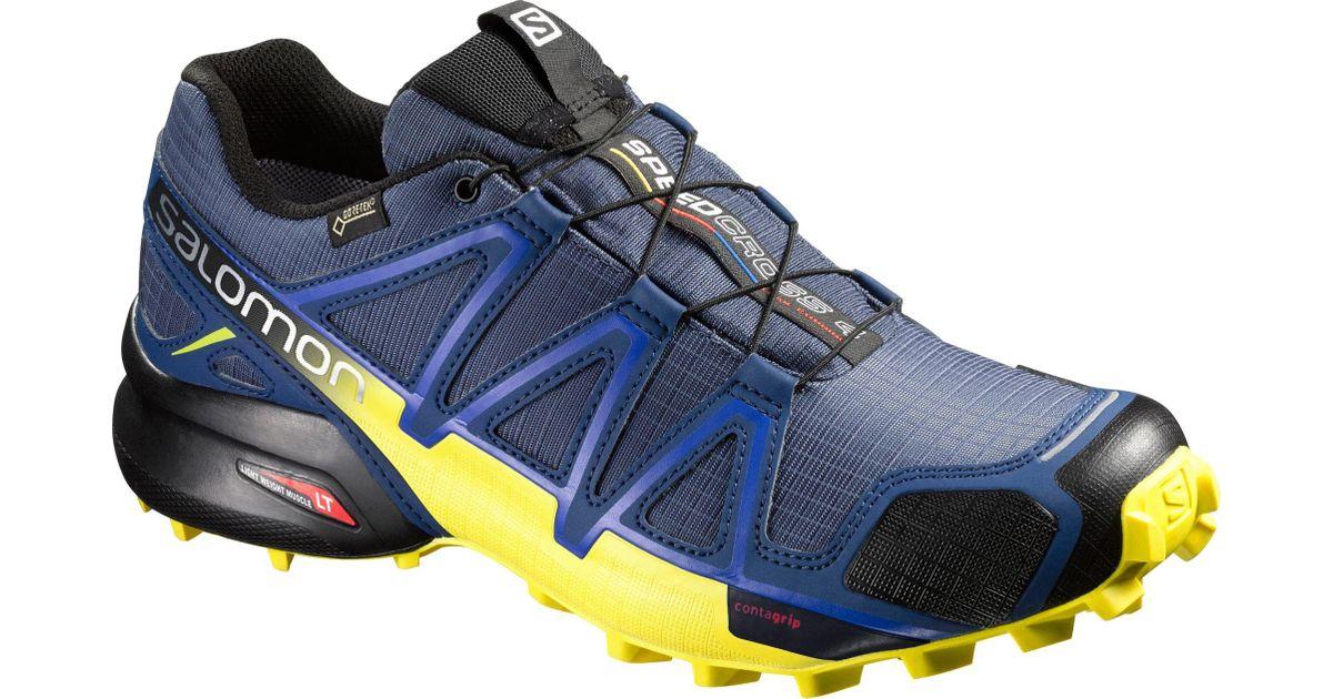 salomon men's speedcross 4 wide trail running shoes knee