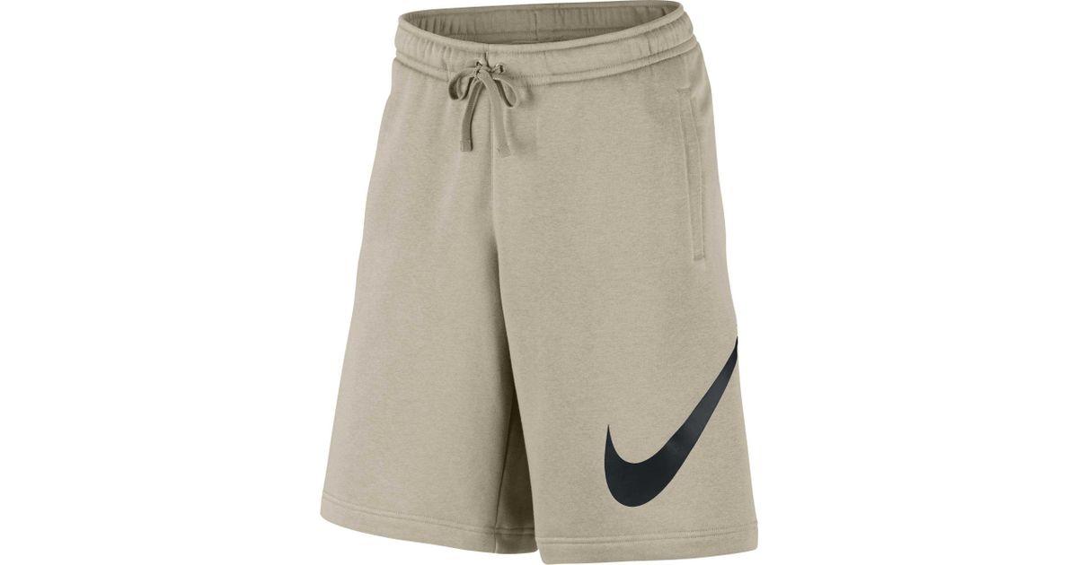 the best attitude d7b69 246ec Nike Sportswear Club Fleece Sweatshorts in Natural for Men - Lyst