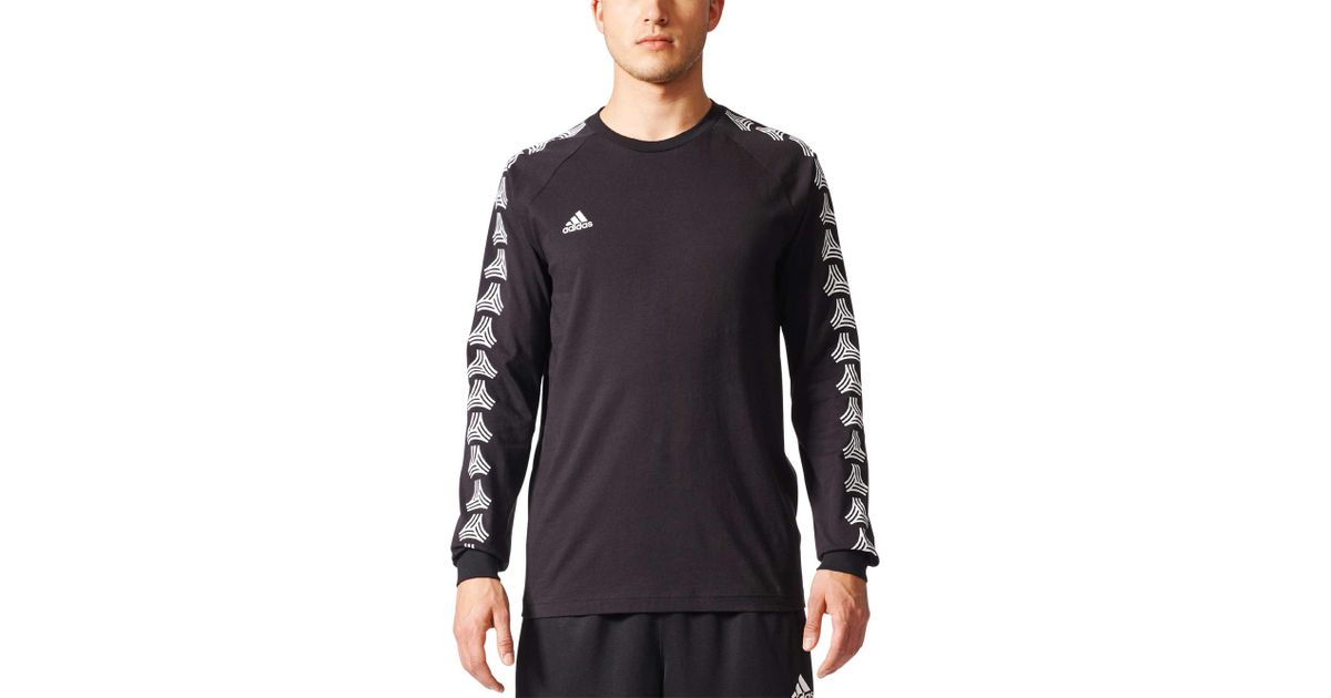 13745a6c42e Lyst - adidas Tango Cage Long Sleeve T-shirt in Black for Men