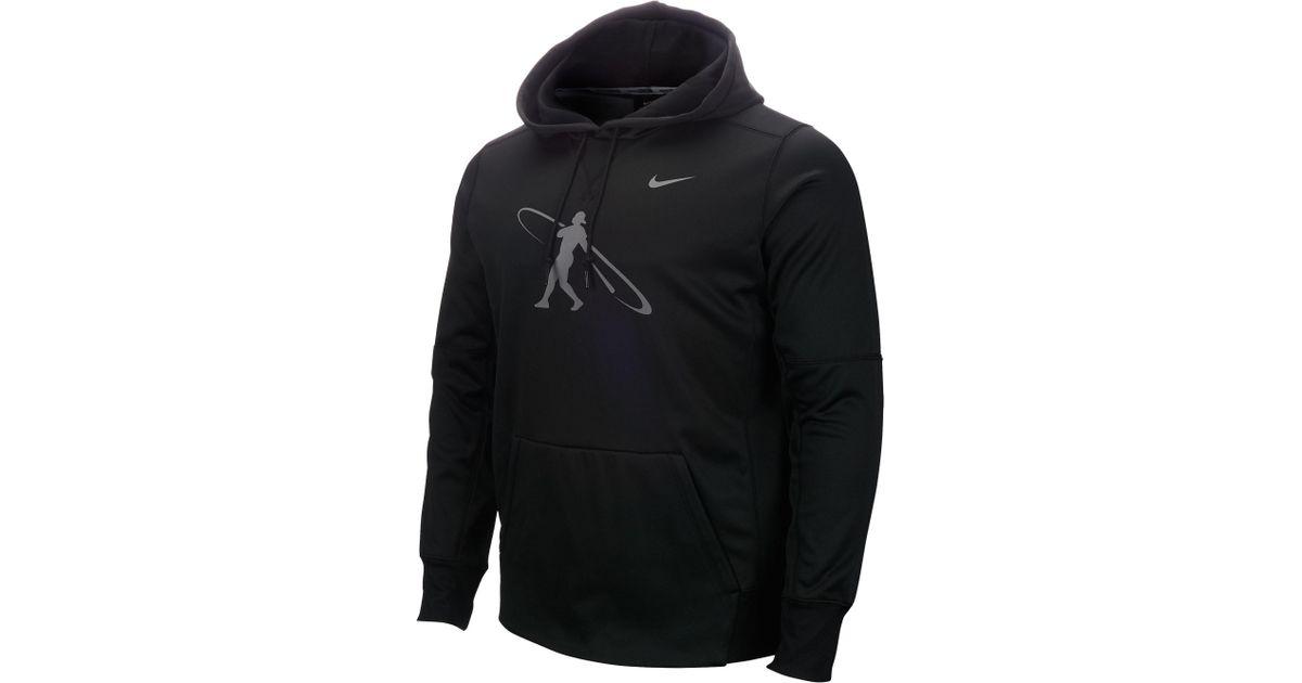 8dc8308223e Nike Swingman Baseball Hoodie in Black for Men - Lyst