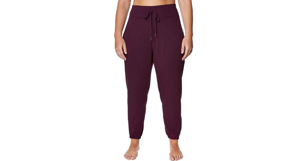 67ef515818b Lyst - Betsey Johnson Plus Size Chevron Colorblock Sweatpants in Purple