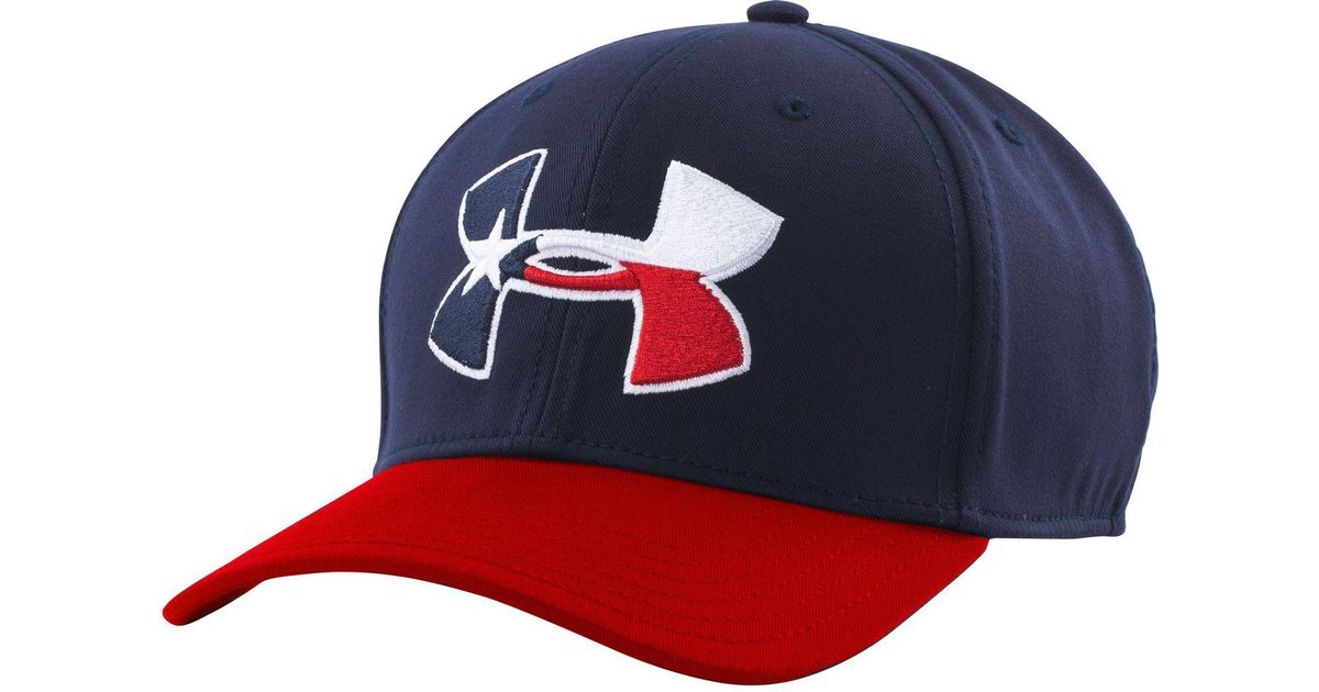 cheap for discount 914e2 101c3 ... top quality lyst under armour texas flag big logo low crown hat in blue  for men