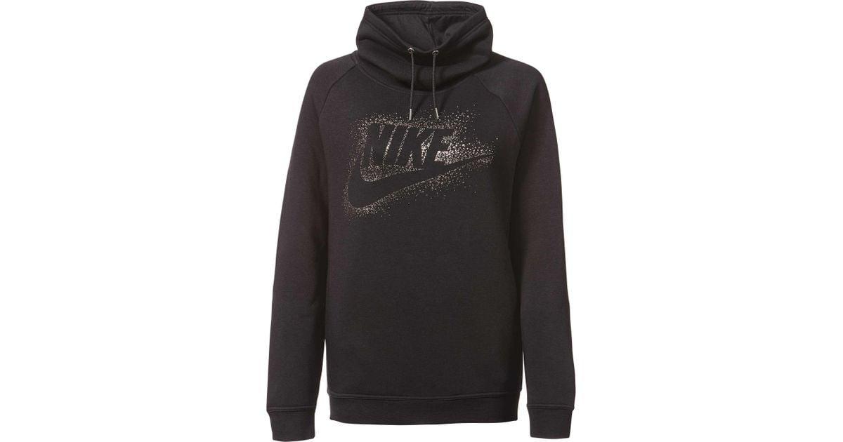 9e6189405a1b Lyst - Nike Sportswear Rally Metallic Funnel Neck Graphic Hoodie in Metallic