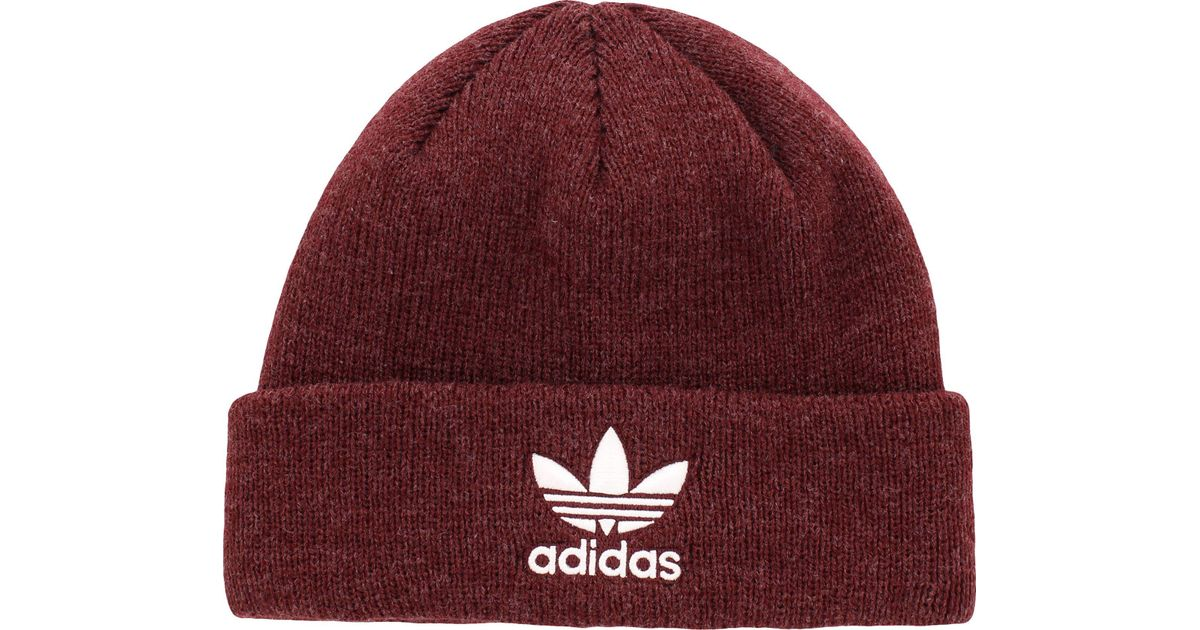 eaa6ad1b2f6 Lyst - adidas Originals Trefoil Beanie in Red for Men - Save 7%