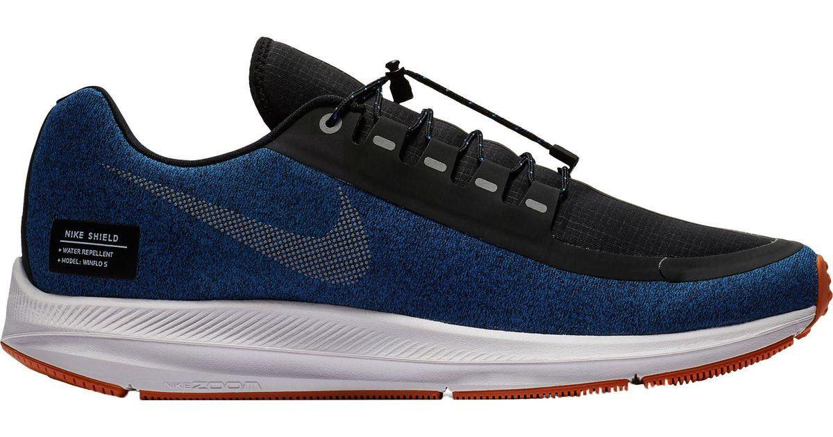 e6d374cfac67 Lyst - Nike Air Zoom Winflo 5 Shield Running Shoes in Metallic for Men