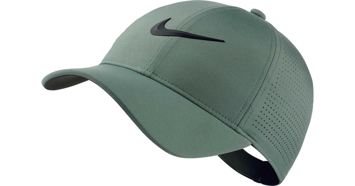 Lyst - Nike 2018 Aerobill Legacy91 Perforated Golf Hat in Green b83e8f748b8