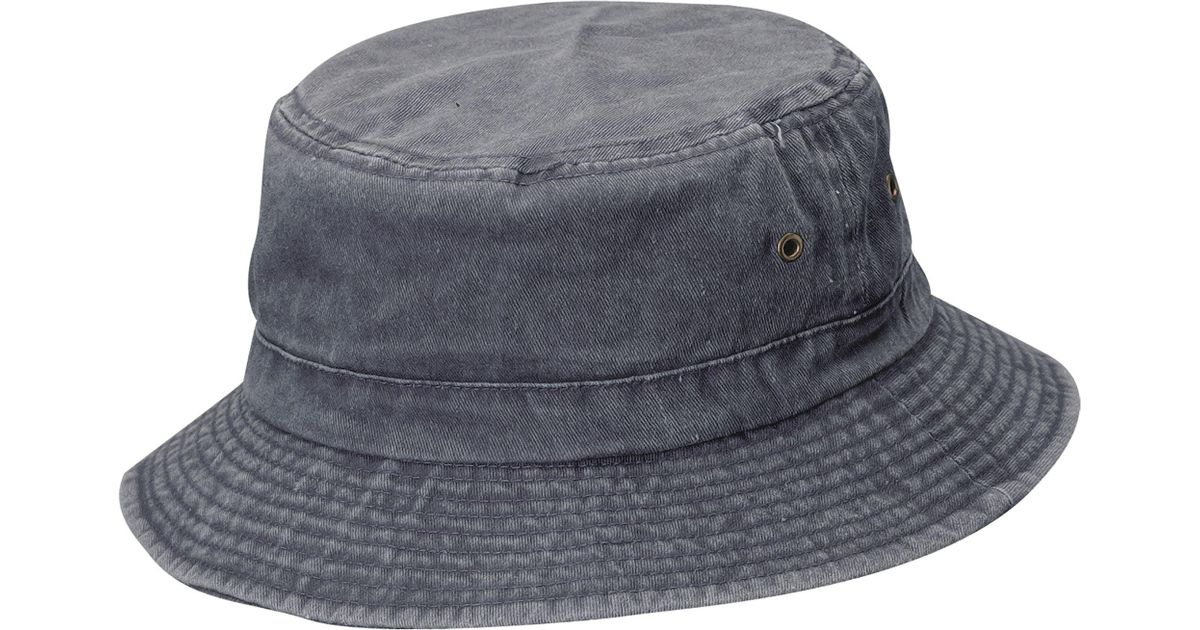 edc11c98b21 Lyst - Dorfman Pacific Pigment Dyed Twill Bucket Hat in Blue for Men