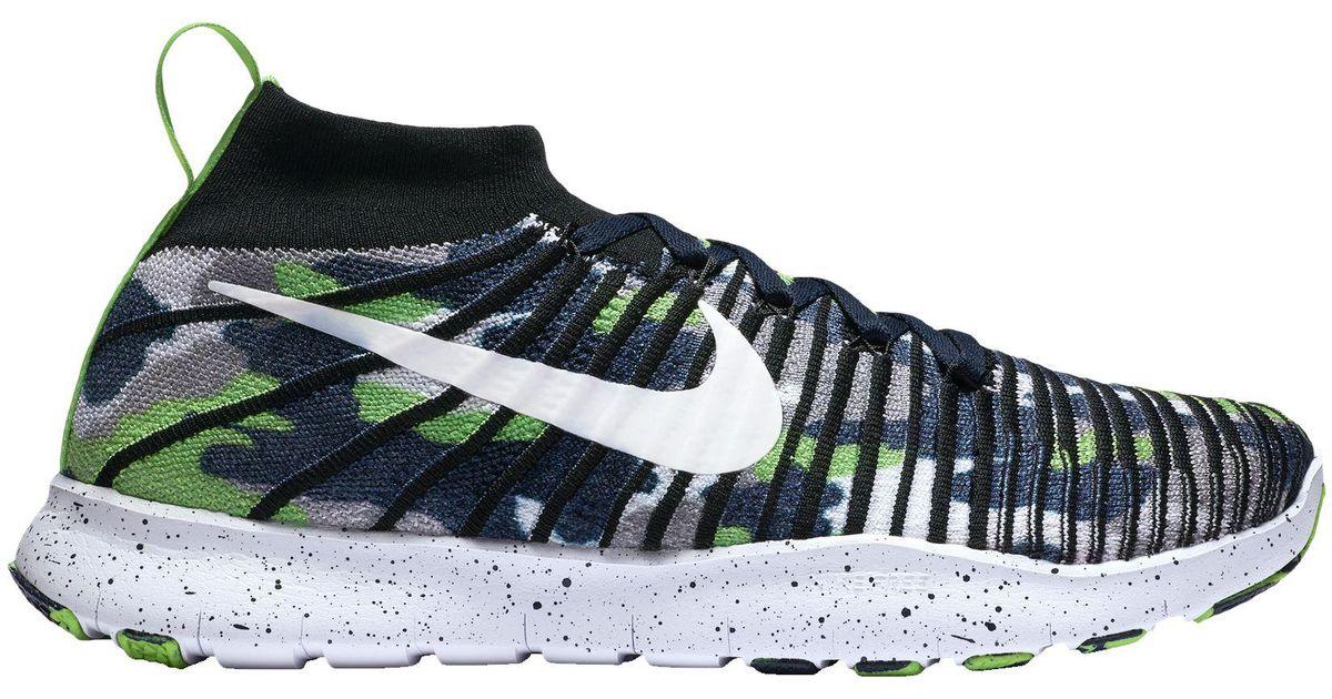 ca8a45d39840 Lyst - Nike Free Tr Force Flyknit Dangeruss Wilson Training Shoes in Blue  for Men