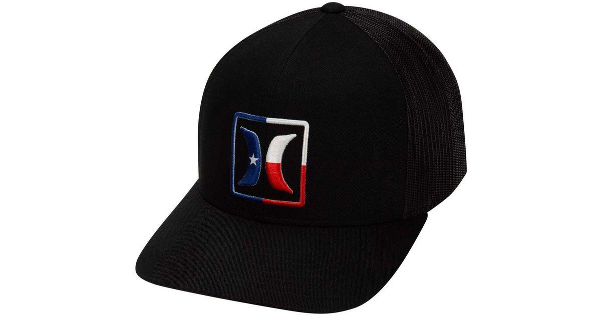 new style 35209 73e9b Hurley Texas Trucker Hat in Black for Men - Lyst