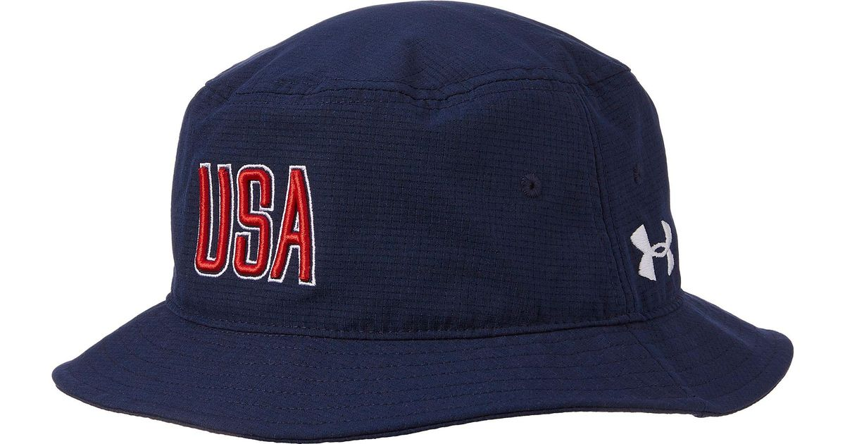 a9d93084419 Lyst - Under Armour Armourvent Usa Bucket Hat in Blue for Men