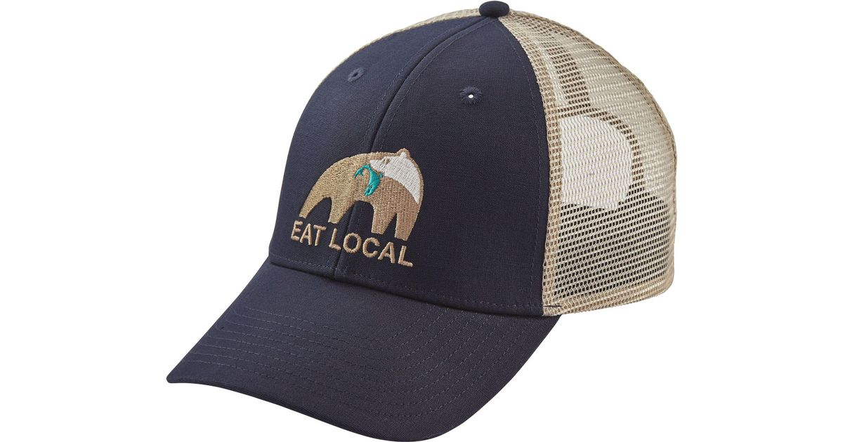 5a69af05db Patagonia Eat Local Upstream Lopro Trucker Hat in Blue for Men - Lyst