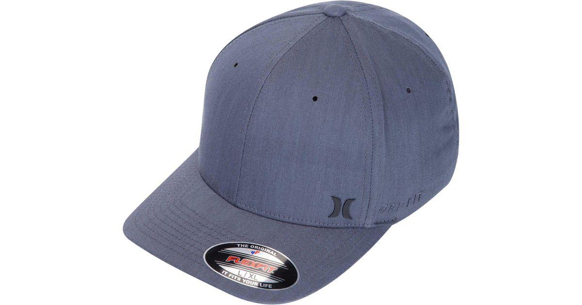 buy online 45776 5049d Lyst - Hurley Dri-fit Flow Flexfit Hat in Black for Men