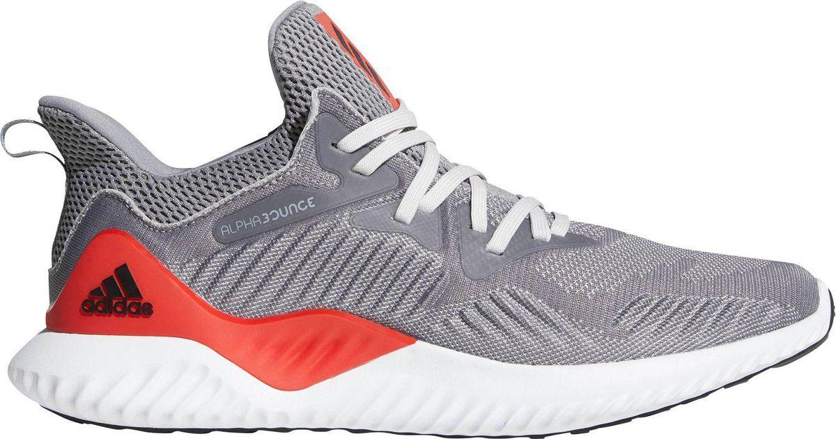 lyst adidas alphabounce oltre le scarpe da corsa in grigio per gli uomini.