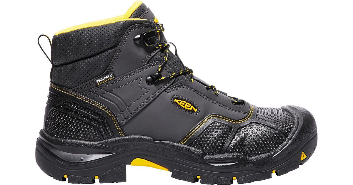 e6055cf6d7f Keen - Black Logandale Waterproof Steel Toe Work Boots for Men - Lyst