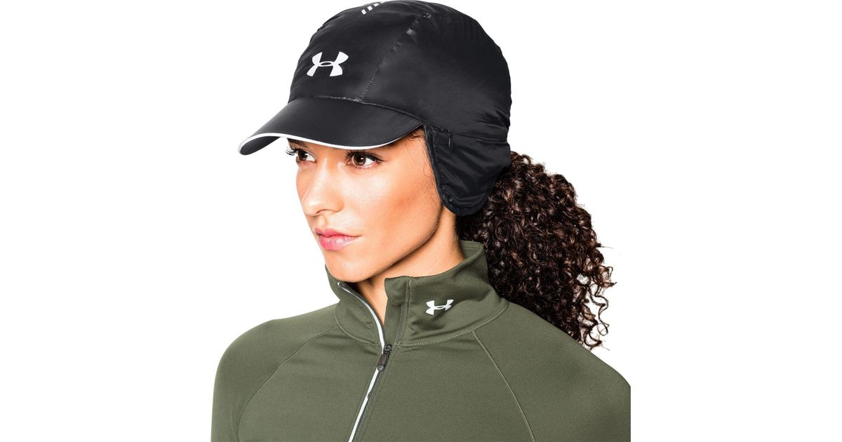 17e9df5f75a Lyst - Under Armour Windstopper Trapper Hat in Black