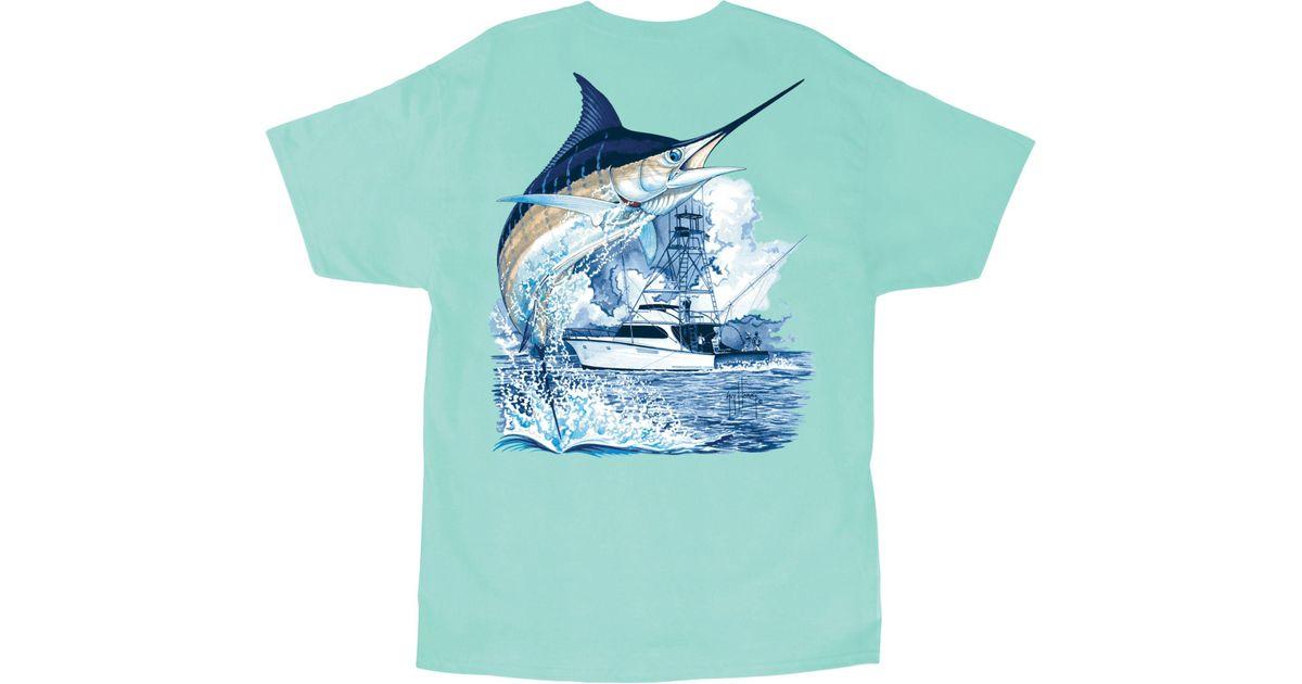 cd44883518b2 Lyst - Guy Harvey Marlin Boat T-shirt in Blue for Men