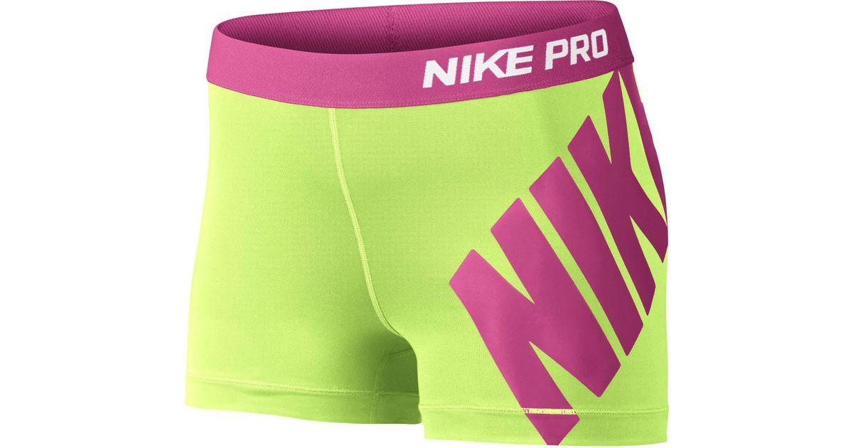 c9716c160971de Lyst - Nike 3   Pro Logo Compression Shorts in Pink for Men