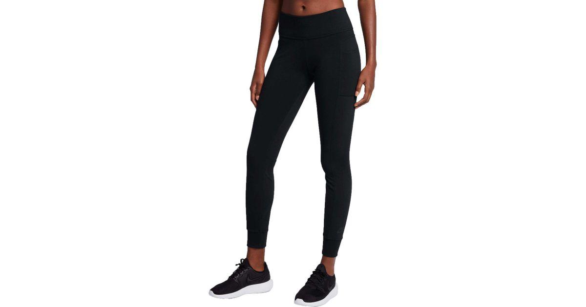 Lyst - Nike Sportswear Essential Pocket Leggings in Black
