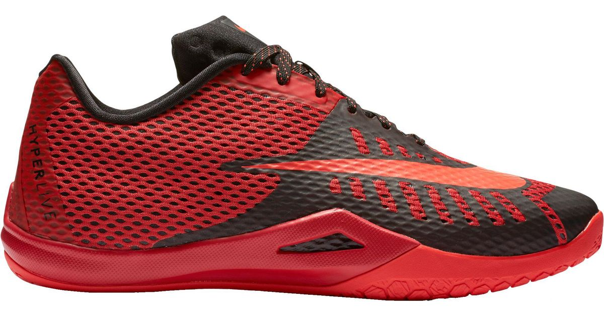 b4fea84e685 Lyst - Nike Hyperlive Basketball Shoes in Red for Men