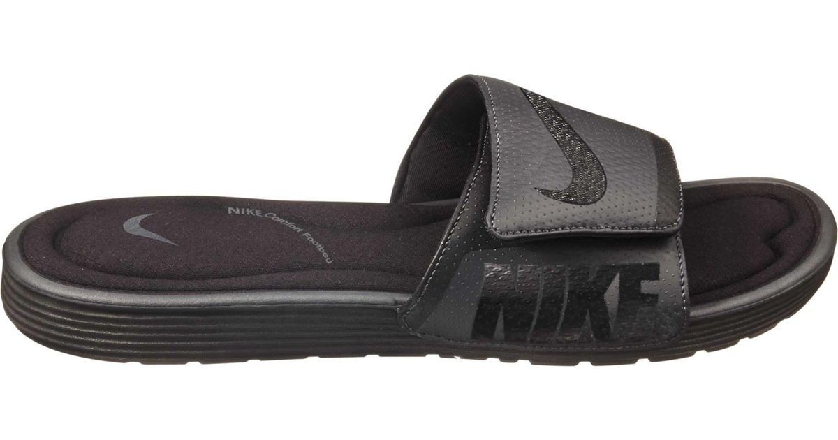 factory price a5ab9 bae90 Nike Solarsoft Comfort Slide in Black for Men - Save 48% - Lyst