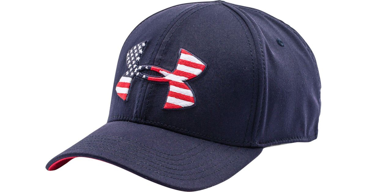 Lyst - Under Armour World Flag Low Crown Hat in Blue for Men dc23122a484