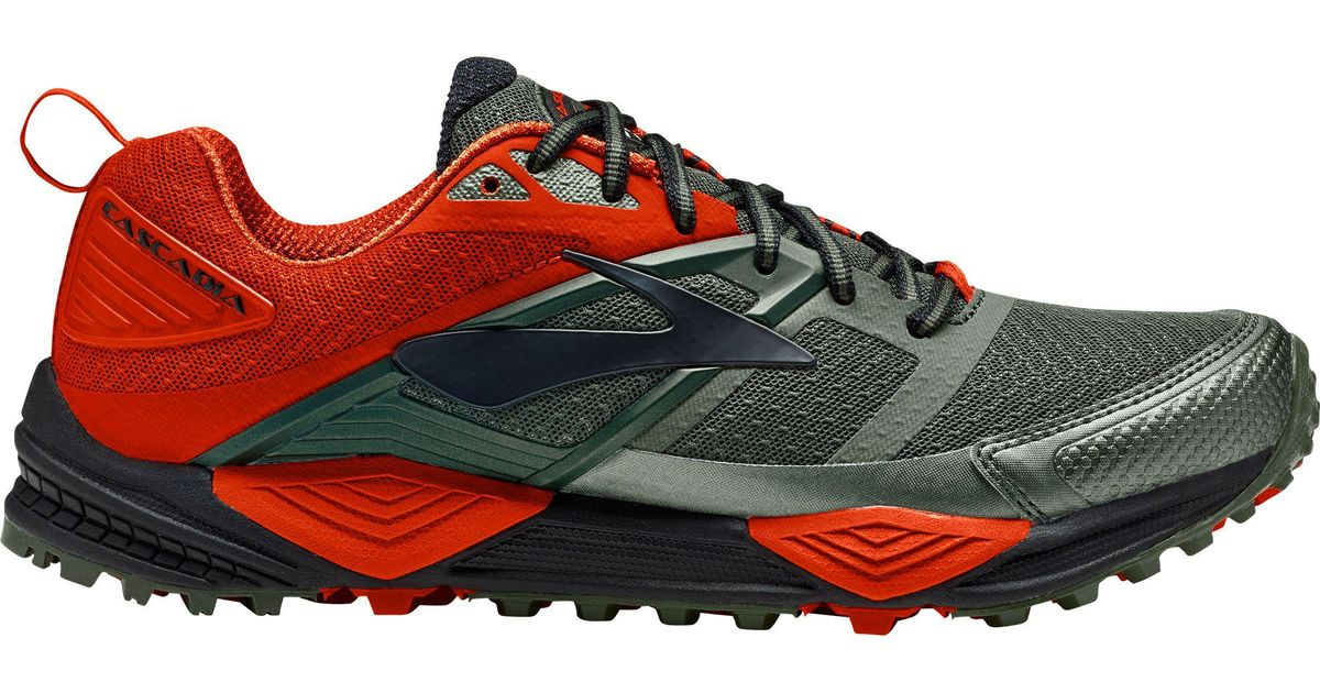 cc067241b4c Lyst - Brooks Cascadia 12 Trail Running Shoes in Green for Men