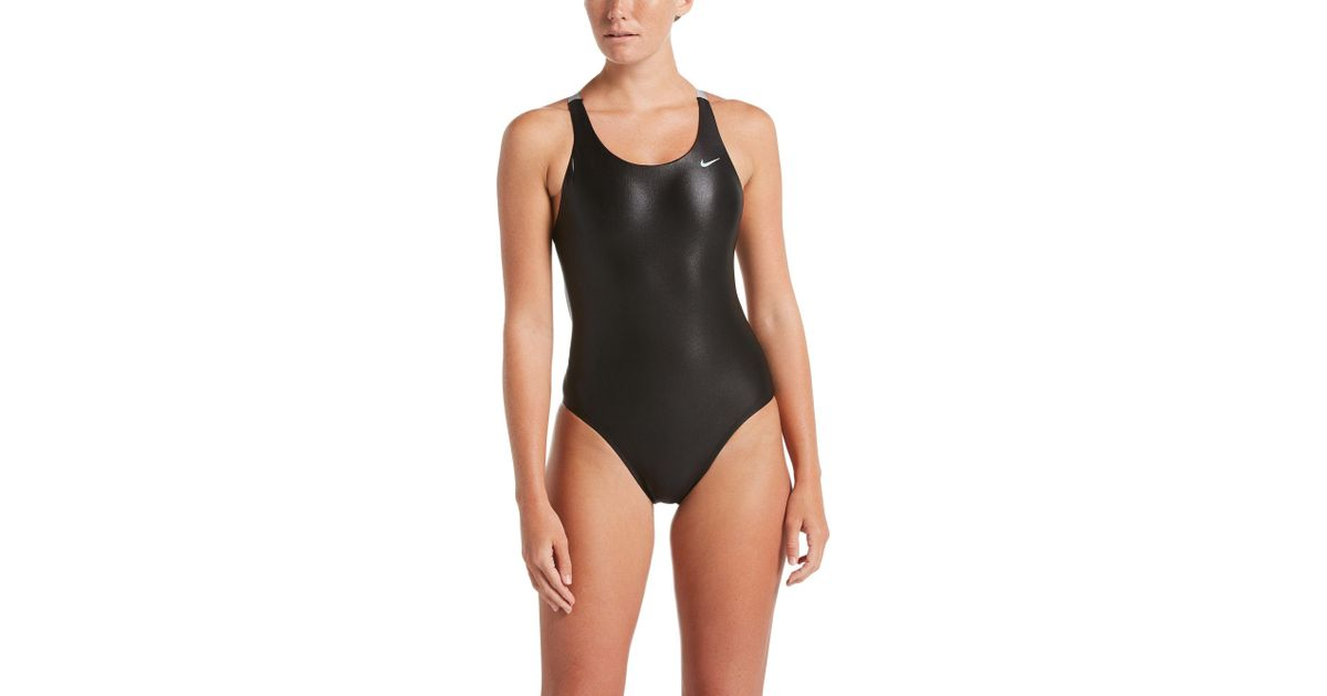 0d54fa550ea1 Nike Flash Bonded Fastback One-piece Swimsuit in Black - Save 50% - Lyst