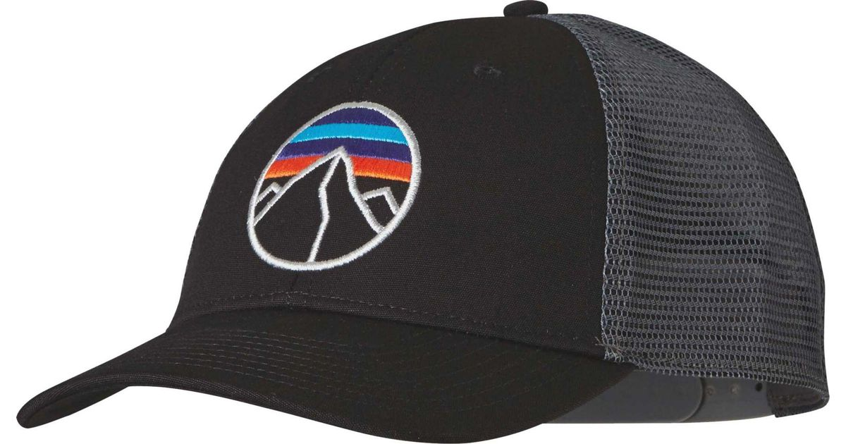 Lyst - Patagonia Fitz Roy Emblem Lopro Trucker Hat in Black for Men f0d2b634ae5