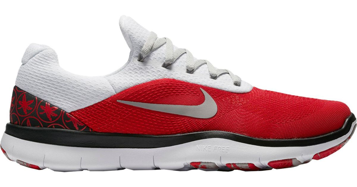 09302064e4c0 ... cheapest lyst nike free trainer v7 week zero ohio state edition training  shoes in red for