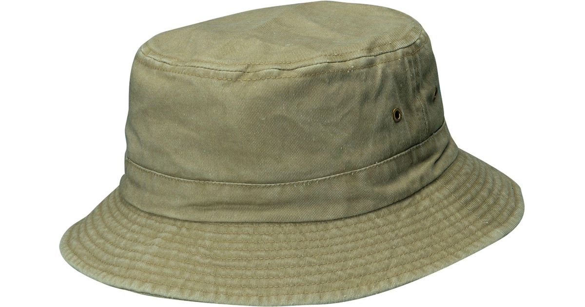 41341506c Dorfman Pacific - Green Pigment Dyed Twill Bucket Hat for Men - Lyst
