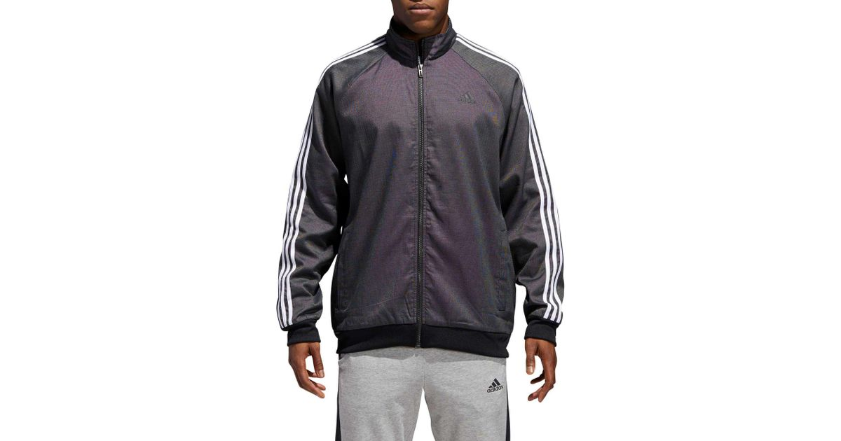 129befab702 Lyst - adidas Essentials 3-stripes Tricot Jacket in Black for Men - Save 72%