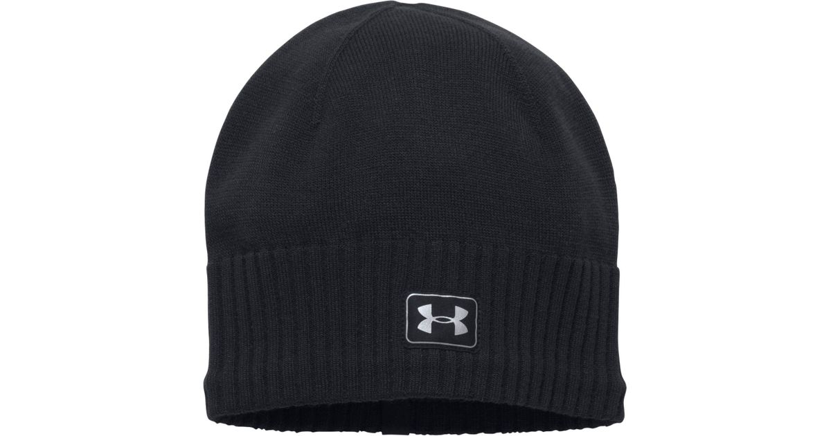 c1e6dab6a34 ... closeout lyst under armour reflective knit beanie in black for men  6a617 b77f4