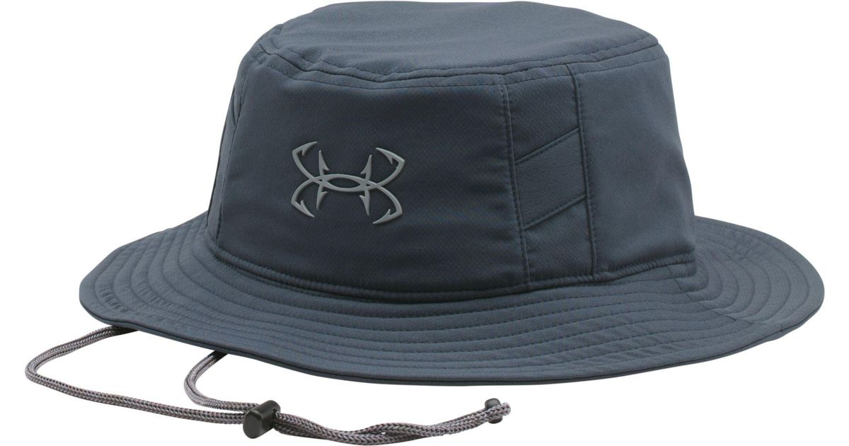 new york f30b1 a42dc Under Armour Fish Hook Bucket Hat in Gray for Men - Lyst