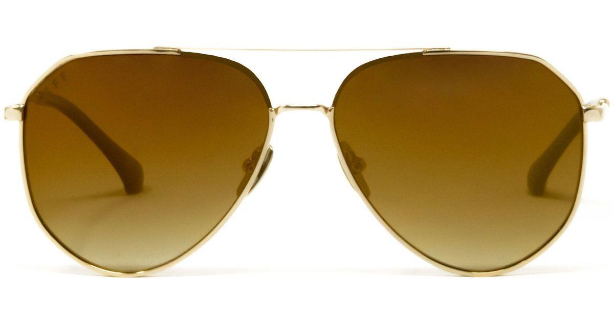 9c3e6d7f86442 DIFF Jessie James Decker - Dash + Gold Mirror Gradient in Metallic - Lyst