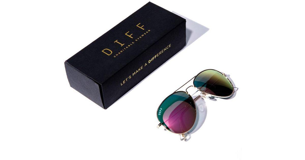 0ba4a0c84c DIFF Cruz Mystery Box - Gold + Pink Mirror - Lyst