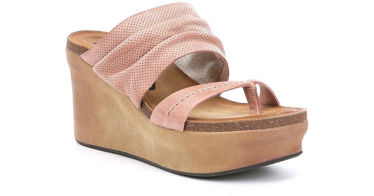 4ae96e146a3 Lyst - Otbt Tailgate Platform Sandals in Black - Save 1%