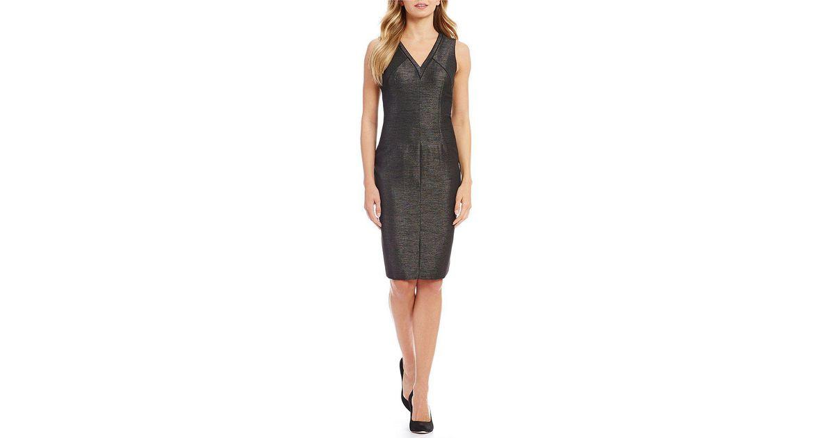 10d697e43d7 Lyst - Antonio Melani Wilson Texture Twill Dress in Black