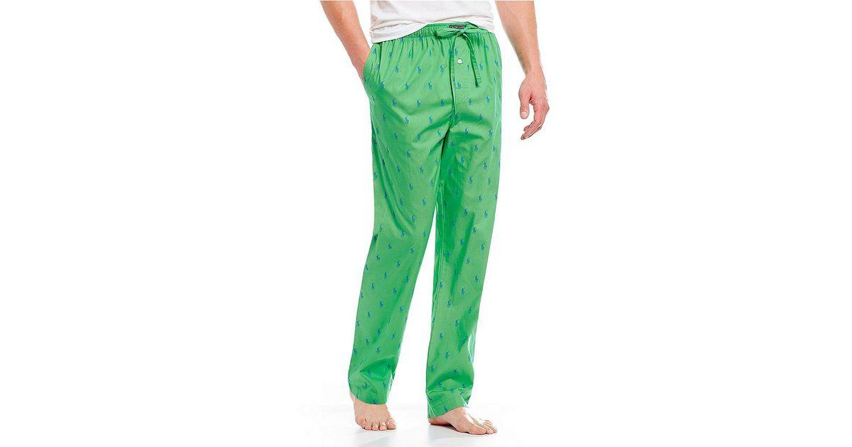 198a6e17eb Polo Ralph Lauren Green Pony-print Woven Pajama Pants for men