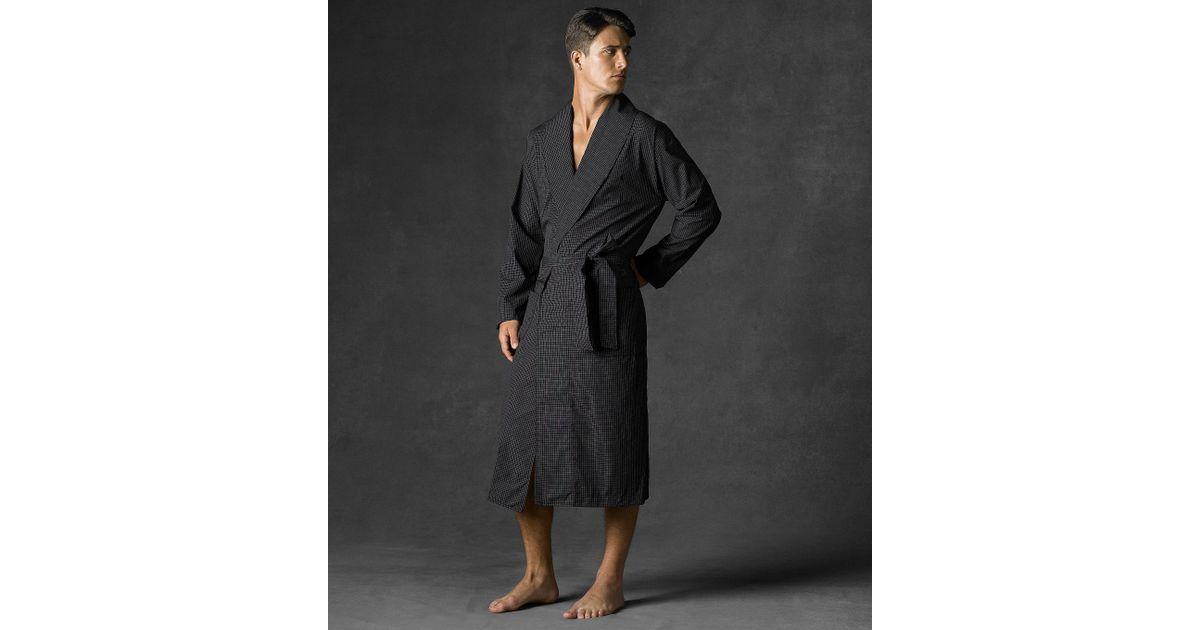 7ffe5fab5fd Polo Ralph Lauren Soho Plaid Robe in Black for Men - Lyst