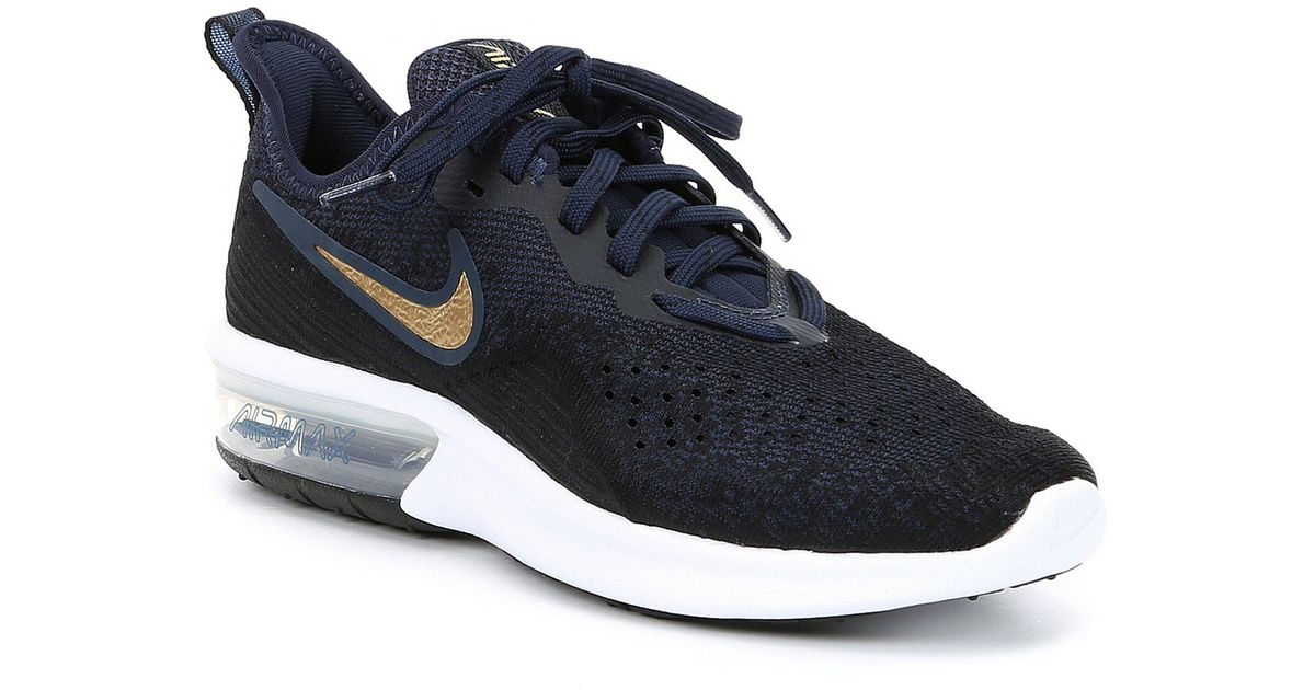 size 40 d4996 16111 Nike Women s Air Max Sequent 4 Running Shoe in Blue - Lyst