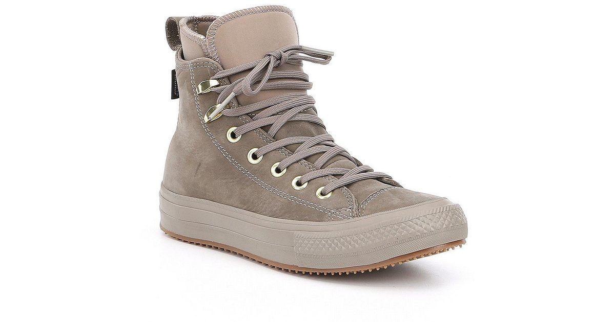 4a2f324da0d6 Lyst - Converse Women S Chuck Taylor All Star Waterproof Boot Hi Top  Sneakers