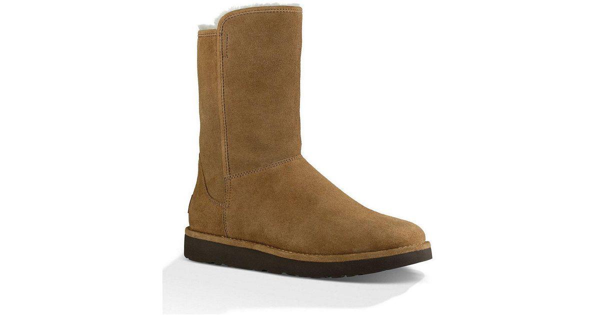 Abree Short II Suede Slip-On Sheepskin Lined Boots UT2l1