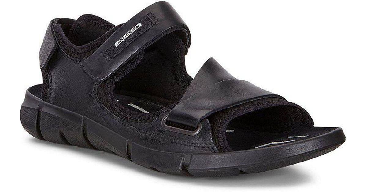 56f4201fabc0 Ecco Men s Intrinsic Sandals in Black for Men - Lyst