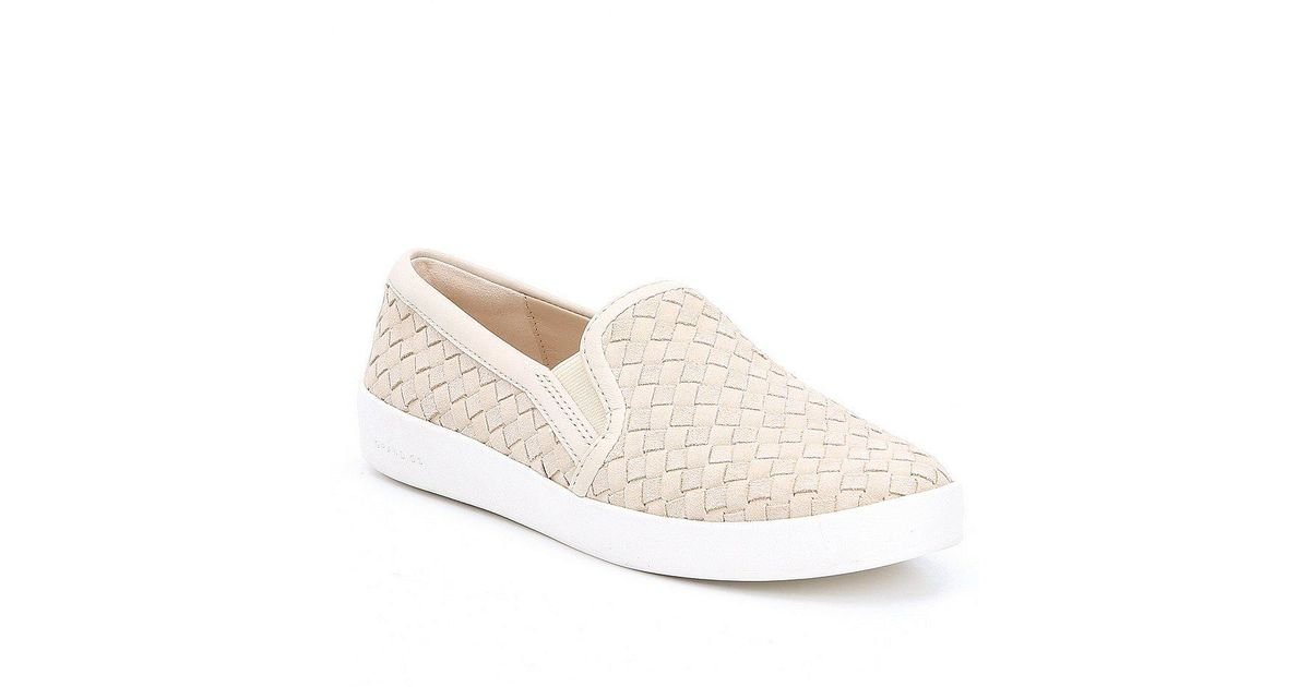 Grandpro Spectator Woven Suede and Leather Slip-On Sneakers b3pKA