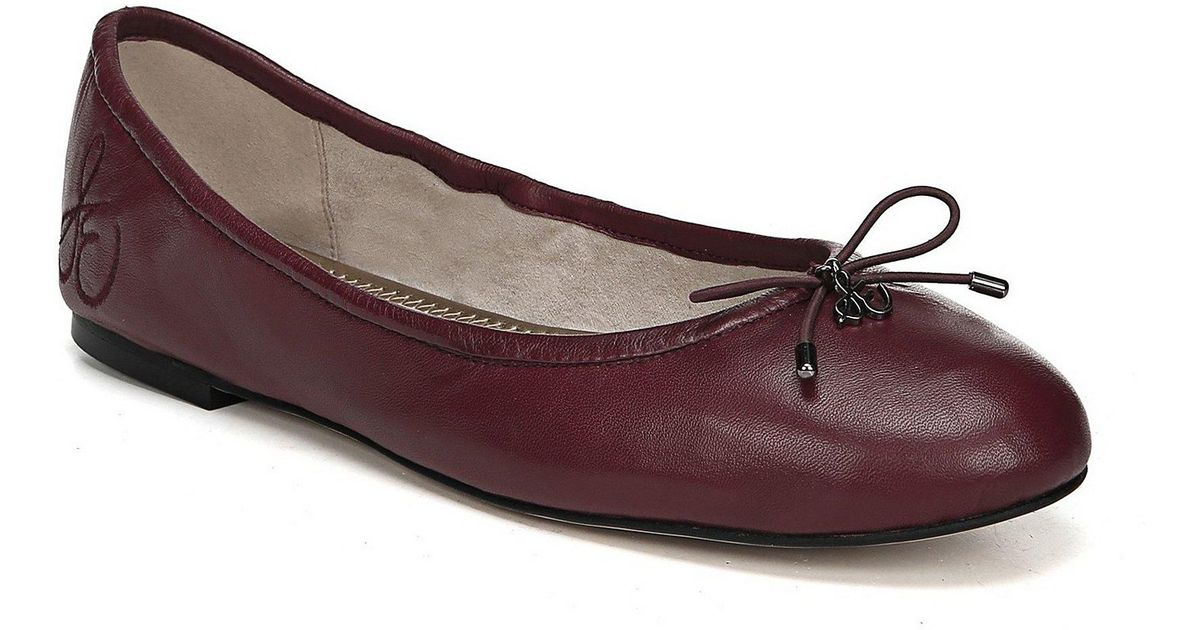 24f3a155497c Lyst - Sam Edelman Felicia Leather Ballet Flats in Red - Save 45%