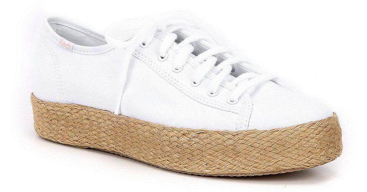 Triple Kick Jute Espadrille Flatform Sneakers VZwKjKN