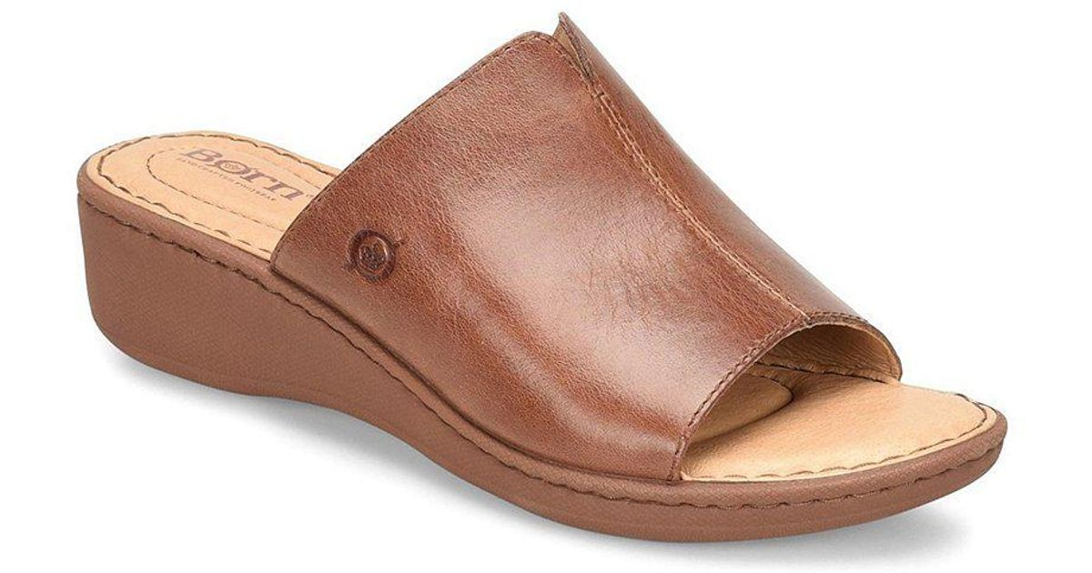 Bernt Leather Wedge Slide Sandals ZkFx5cSS